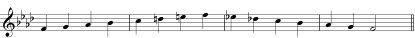 f minor melodic